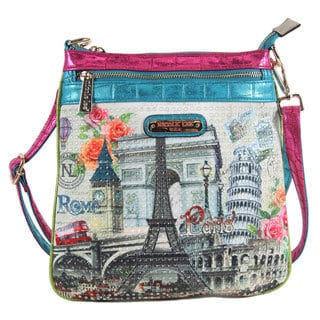 Nicole Lee Europe Print Crossbody Bag