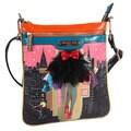 Nicole Lee Dark City Print Crossbody Bag