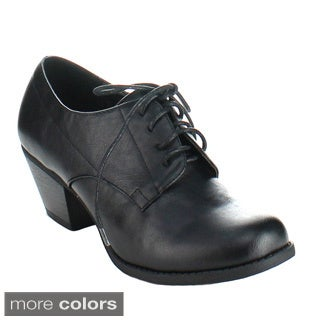 Bonnibel 'Milton-1' Women's Lace-up Chunky Heel Oxfords