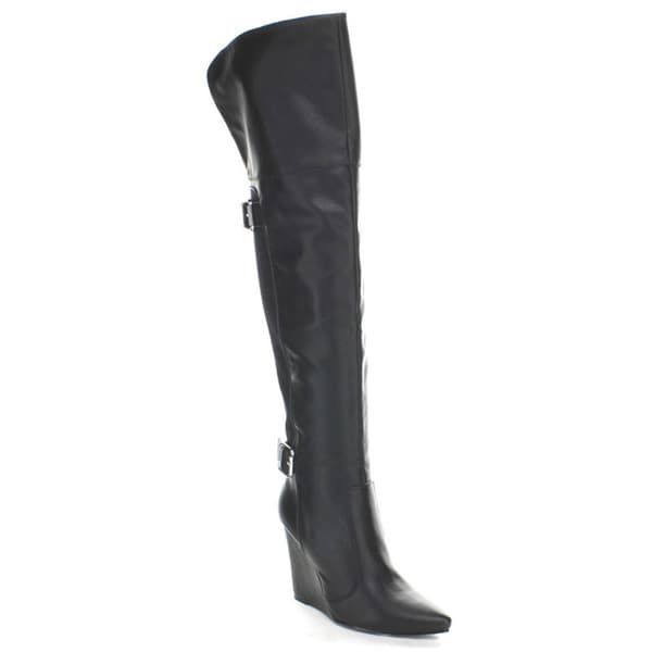 Wild Diva 'Kade-01' Women's Classic Lycra Over-the-Knee-high Boots
