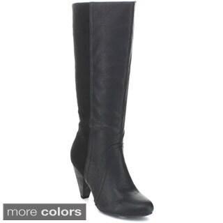 Wild Diva 'Merton-25' Women's Knee-high High Heel Boots