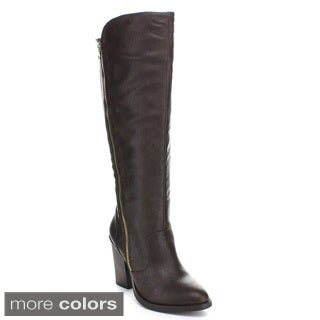 Wild Diva 'Dominic-15' Women's Knee-high Riding Boots