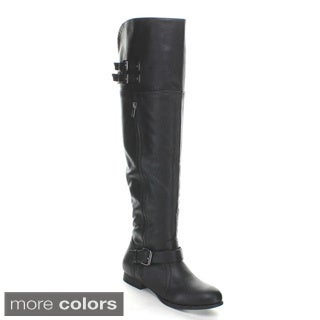 Wild Diva Women's 'Tosca-78' Over-the-Knee Riding Boots