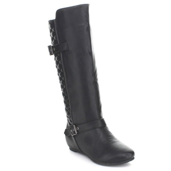 Wild Diva Women's 'Candies-142' Quilted-back Knee-high Boots