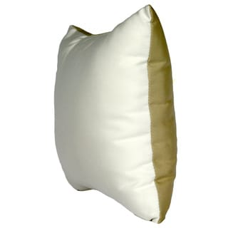 Trijaya Living Sunbrella 2-sided Canvas Natural and Antique Beige Reversible Outdoor 14x14 Throw Pillow