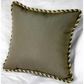 Trijaya Living Sunbrella Canvas Taupe/ Smoke 14x14 Pillow with Twist Cord