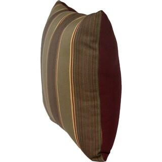 Sunbrella 2-sided Reversible Outdoor Davidson Redwood and Burgundy 14x14 Throw Pillow