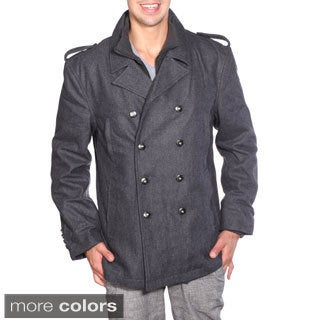 Wilda Men's Military Wool Peacoat