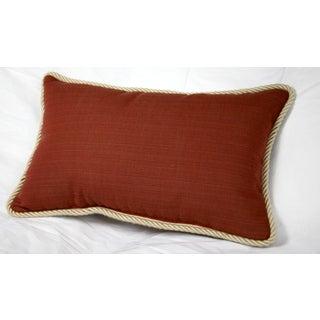 Trijaya Living Lumbar Sunbrella Dupione Henna 11x19 Pillow with Twist Cord