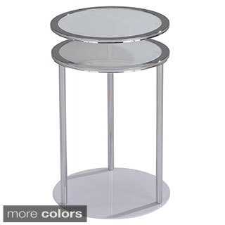 Infinity Swivel top Chrome/ Glass Accent Table