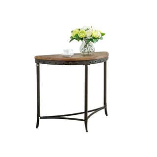 Trenton Distressed Pine and Metal Console Table
