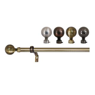 Versailles Lexington Ball Finial Curtain Rod Set