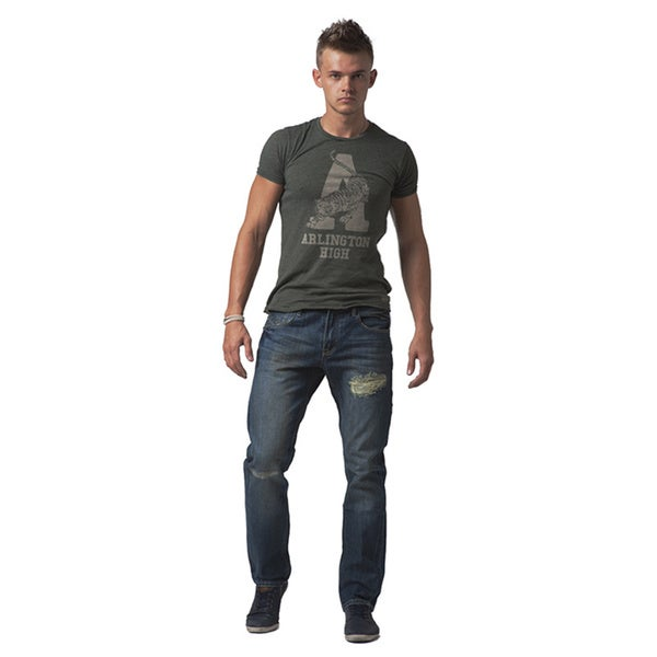 Simple Living High Thinking Jeans Men's 'Jonathan' Dark Blue Slim-fit Jeans