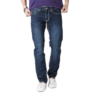 Simple Living High Thinking Jeans Men's Eagle Green Jeans with Contrast Waistband