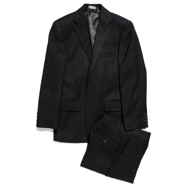 Caravelli Junior Boys' Black Pinstripe 2-piece Suit