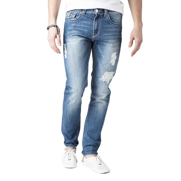 Simple Living High Thinking Jeans Men's 'Christopher' Light Blue Denim Jeans