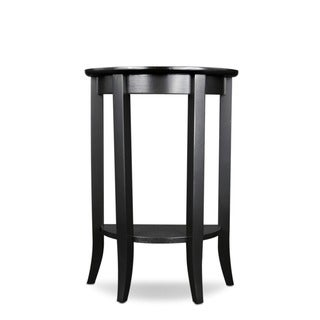 Solid Oak Demilune Slate Black Table Stand