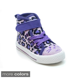 Blue Girls 'K HiFace' Animal Printed Sneakers