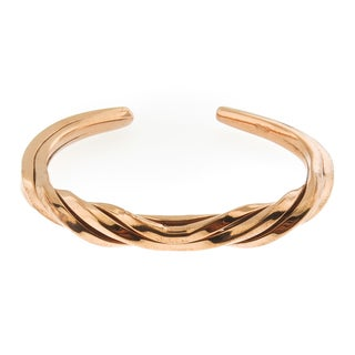 Hand-crafted Twisted Copper Cuff Bracelet (Mexico)