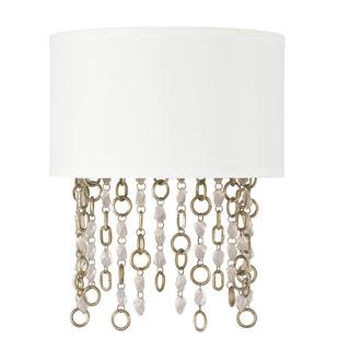 Capital Lighting Ava Collection Sable Gold and White Linen 2-light Wall Sconce