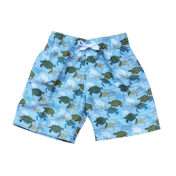 Azul Swimwear 'Turtle Love' Boys' Swim Shorts