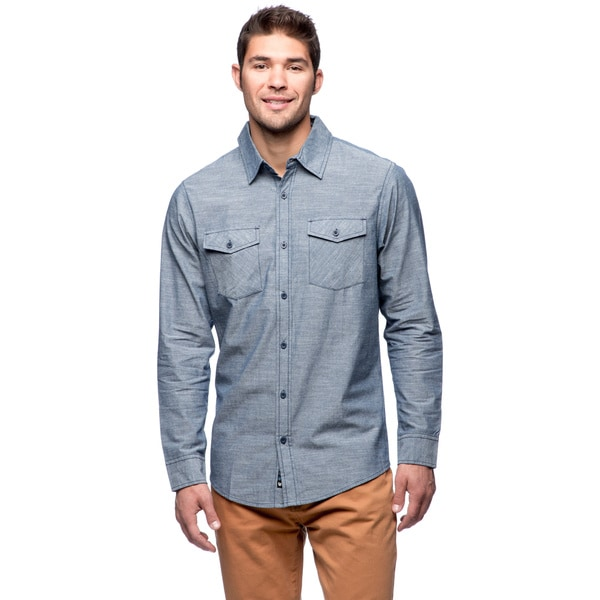 Burnside Men's Chambray Long Sleeve Shirt