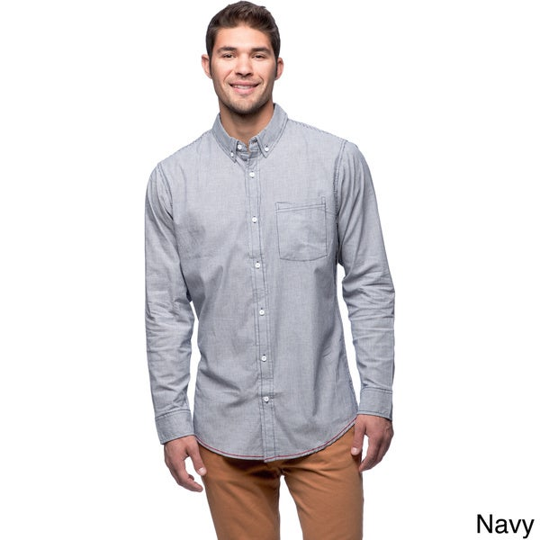 Burnside Men's Stretch Stripe Long Sleeve Shirt