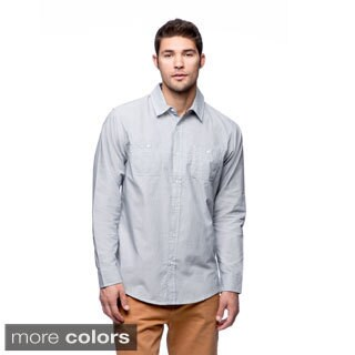 Burnside Men's Mini-check Long Sleeve Shirt