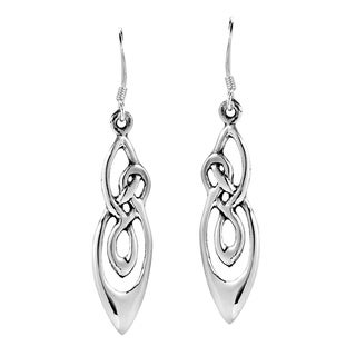 Infinite Celtic Knots .925 Sterling Silver Dangle Earrings (Thailand)