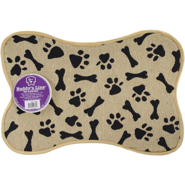 "Signiture Placemats 13""X19""-Bone Shape - Bone & Paws"