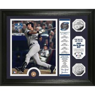 Derek Jeter 2000 World Series MVP Silver Coin and Subway Token Photo Mint