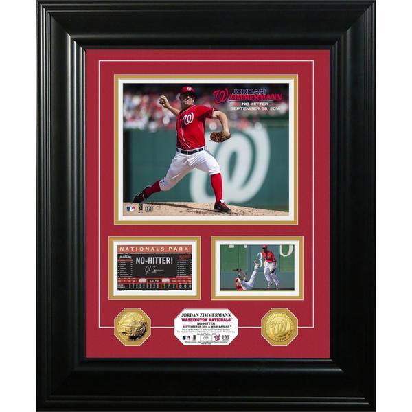 Jordan Zimmerman No-Hitter Marquee Gold Coin Photo Mint