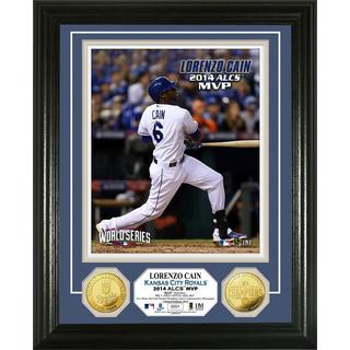 Kansas City Royals Lorenzo Cain 2014 ALCS MVP Gold Coin Photo Mint