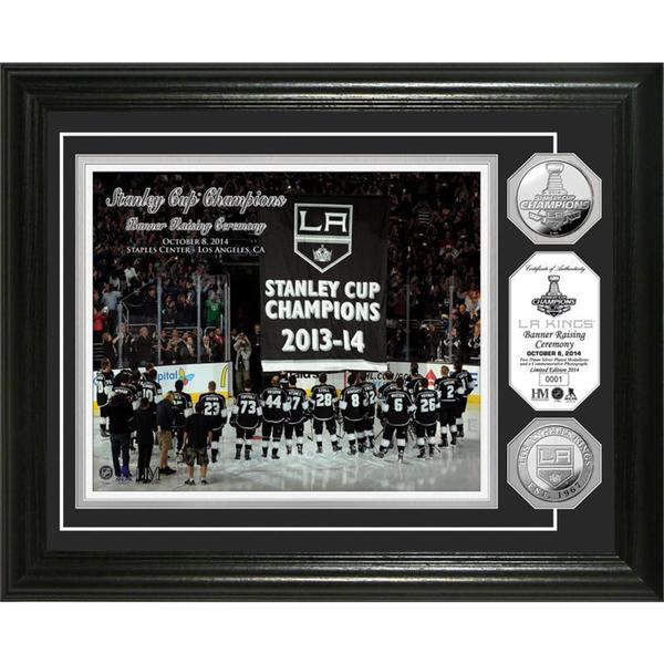 Los Angeles Kings 2014 Championship Banner Raising Ceremony Gold Coin Photomint