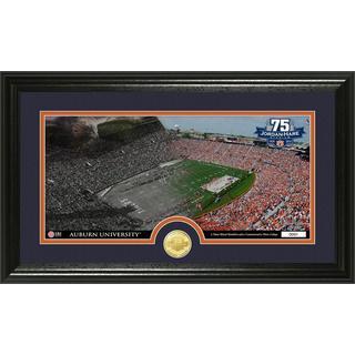 Auburn Jordan-Hare Stadium 75th Anniversary Bronze Coin Pano Photo Mint
