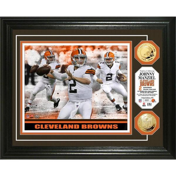 Johnny Manziel Triple Threat Gold Coin Photo Mint
