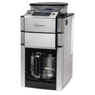 Capresso Coffee Team Pro Glass Coffee Maker and Burr Grinder Combination