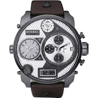 Diesel Men's DZ7126 'Mr Daddy' Oversized Chronograph Leather Watch