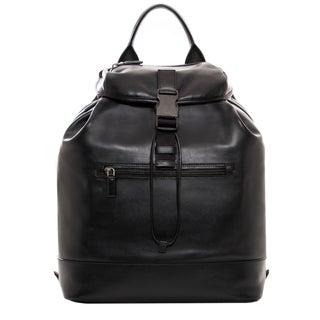 Prada Black Soft Leather Convertible Backpack