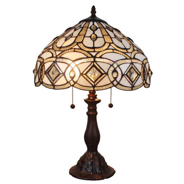 shopping great deals on amora lighting tiffany style lighting. Black Bedroom Furniture Sets. Home Design Ideas