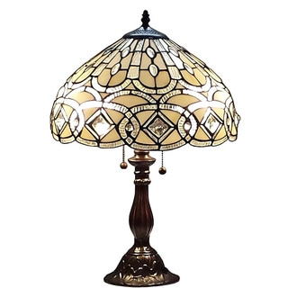 Amora Lighting Tiffany Style 21-inch Geometric Table Lamp