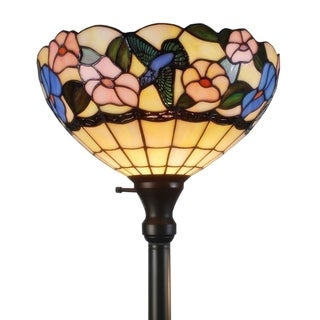 Tiffany-syle Floral Design Tochiere Floor Lamp