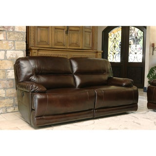 Abbyson Living Breckinridge Top Grain Leather Power Reclining Sofa