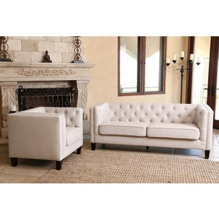 Abbyson Living Marcella Fabric Sofa and Armchair Set