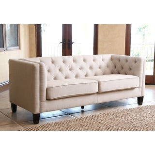 ABBYSON LIVING Marcella Ivory Fabric Tufted Sofa