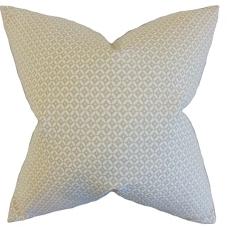 Nima Geometric Linen Down and Feather Filled 18-inch Throw Pillow