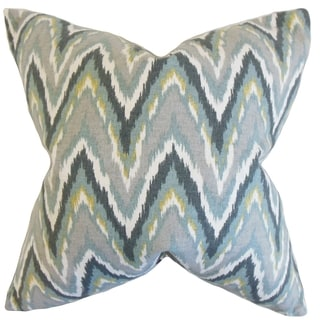 Matisse Zigzag Mineral Down and Feather Filled 18-inch Throw Pillow