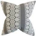 Reilly Geometric Truffle Down and Feather Filled 18-inch Throw Pillow