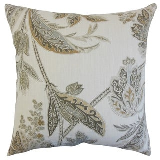 Santa Rosa Pear Down and Feather Filled 18-inch Throw Pillow