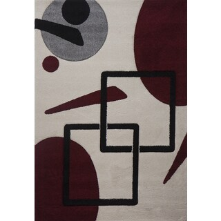 Multi Orbs and Squares Milano Turkish Area Rug (6' x 8')